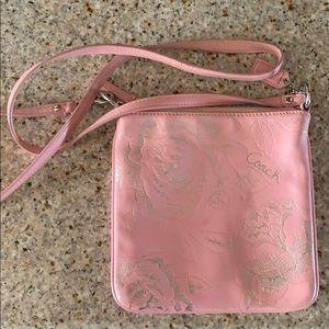 Pink Leather Coach Crossbody Purse